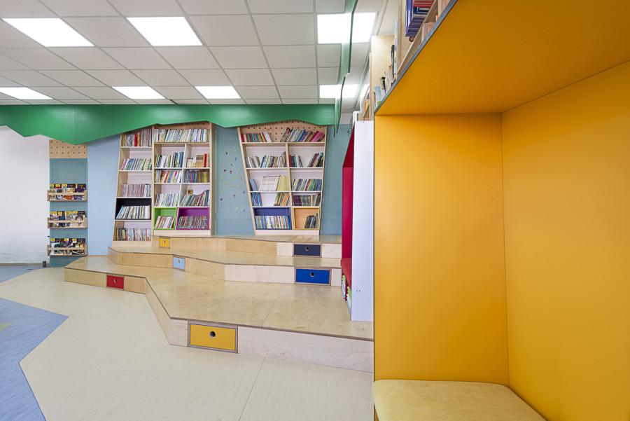 עיצוב ספרייה עידית אבו