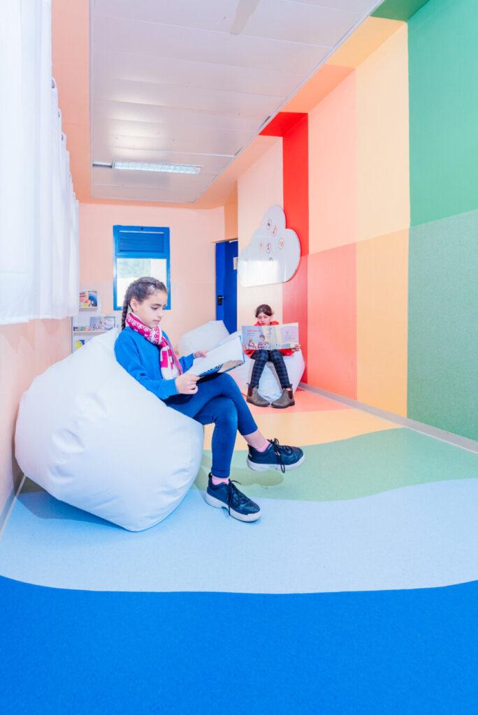 צבע במרחב למידה